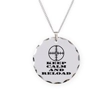Keep Calm And Reload Necklace Circle Charm