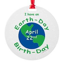 Earth Day Birthday Ornament