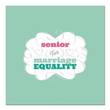 "Senior for Equality Square Car Magnet 3"" x 3"""