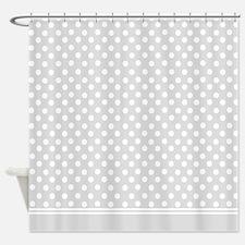 Grey polka dot Shower Curtain