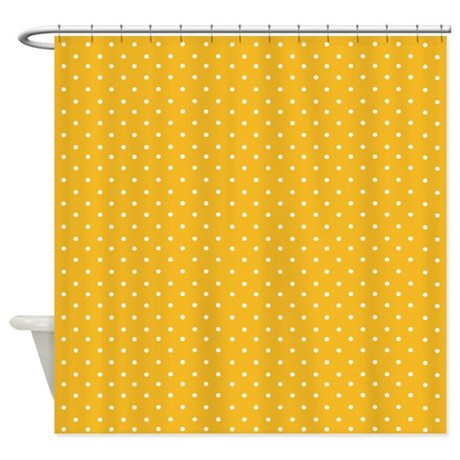Delicate yellow polka dots Shower Curtain