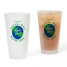 Earth Day Birthday Drinking Glass