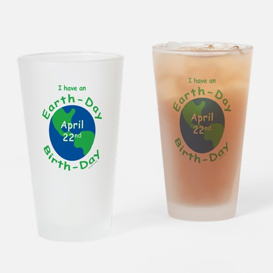 Earth Day Birthday Drinking Glass