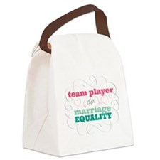 Team Player for Equality Canvas Lunch Bag