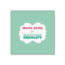 Theta Delta Chi for Equality Sticker