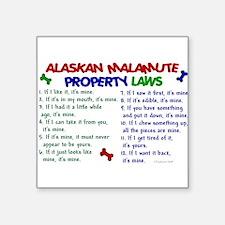 Alaskan Malamute Property Laws 2 Sticker (Rectangu