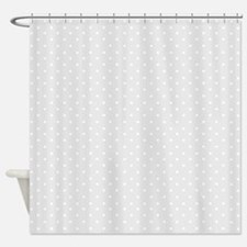 Small gray polka dots Shower Curtain