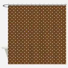 Small brown polka dot Shower Curtain