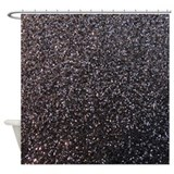 Black glitter Shower Curtains