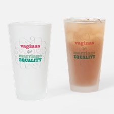 Vaginas for Equality Drinking Glass