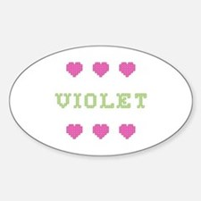 Violet Cross Stitch Oval Decal