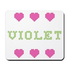 Violet Cross Stitch Mousepad