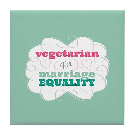 Vegetarian for Equality Tile Coaster
