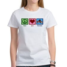 Peace Love Chocolates Tee
