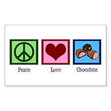 Peace Love Chocolates Decal