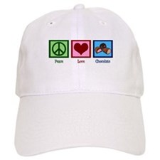 Peace Love Chocolates Baseball Cap