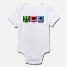 Peace Love Chocolates Infant Bodysuit