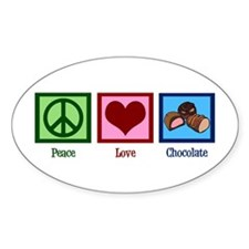 Peace Love Chocolates Decal