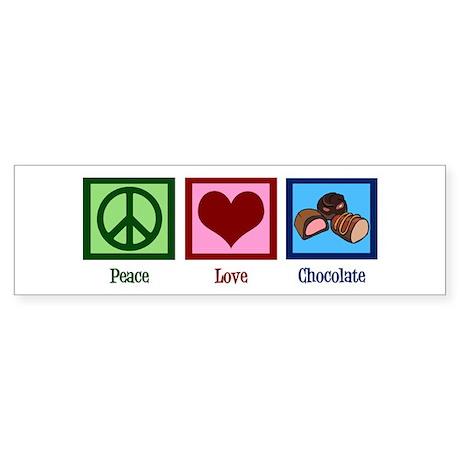 Peace Love Chocolates Sticker (Bumper)