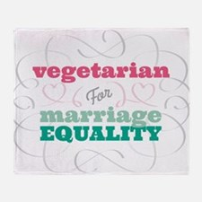 Vegetarian for Equality Throw Blanket