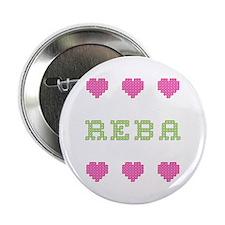 Reba Cross Stitch Button