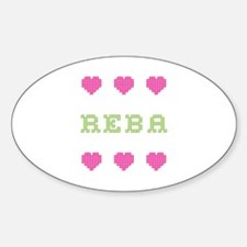 Reba Cross Stitch Oval Decal