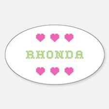 Rhonda Cross Stitch Oval Decal