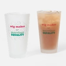 Wig Maker for Equality Drinking Glass