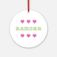 Ramona Cross Stitch Round Ornament