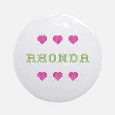 Rhonda Cross Stitch Round Ornament