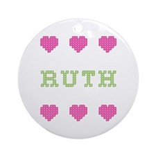 Ruth Cross Stitch Round Ornament