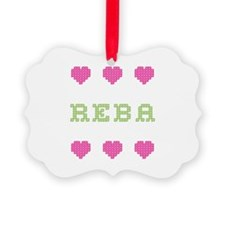 Reba Cross Stitch Ornament