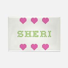 Sheri Cross Stitch Rectangle Magnet