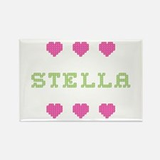 Stella Cross Stitch Rectangle Magnet