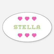 Stella Cross Stitch Oval Decal