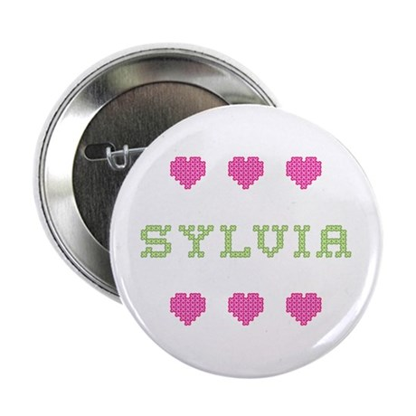 Sylvia Cross Stitch Button