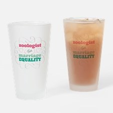 Zoologist for Equality Drinking Glass