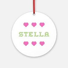 Stella Cross Stitch Round Ornament