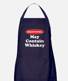 May Contain Whiskey Warning Apron (dark)