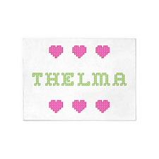 Thelma Cross Stitch 5'x7' Area Rug