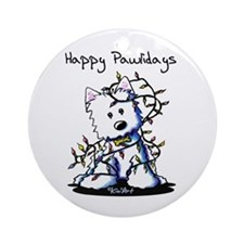 DeLighted Westie Ornament (Round)