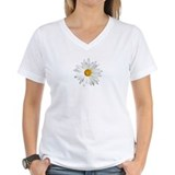 Daisies on white Womens V-Neck T-shirts