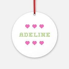 Adeline Cross Stitch Round Ornament