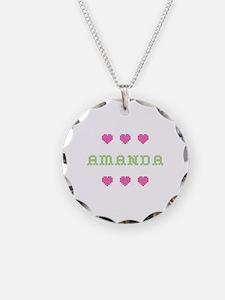 Amanda Cross Stitch Necklace