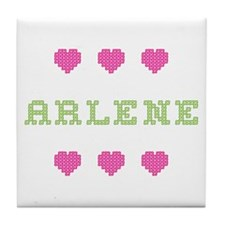 Arlene Cross Stitch Tile Coaster