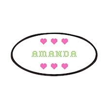 Amanda Cross Stitch Patch