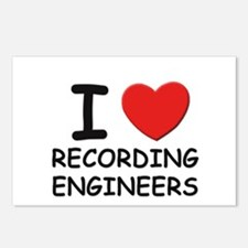 I love recording engineers Postcards (Package of 8