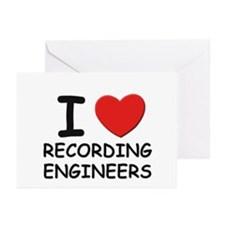 I love recording engineers Greeting Cards (Package