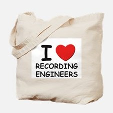 I love recording engineers Tote Bag