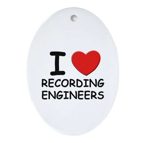 I love recording engineers Oval Ornament